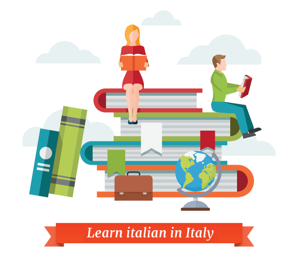 learn italian in Italy - illustration